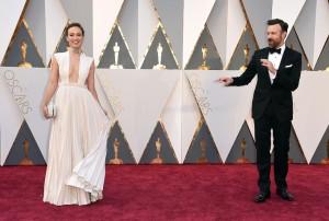 Olivia Wilde e il marito Jason Sudeikis (Jordan Strauss/Invision/AP)